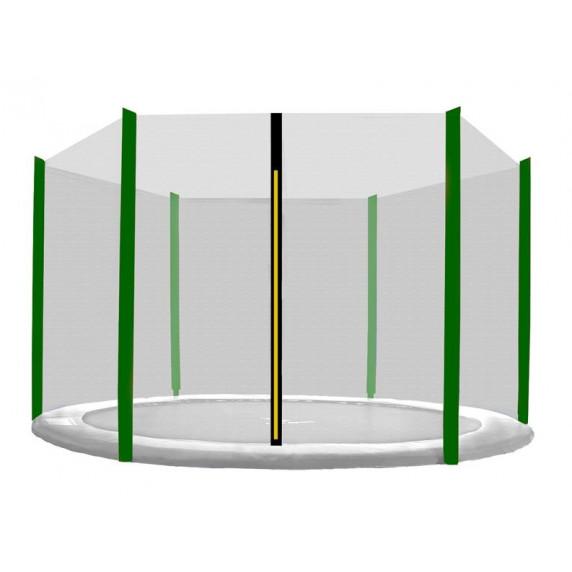 Ochranná sieť na trampolínu s celkovým priemerom 150 cm na 6 tyčí AGA - čierna/tmavozelená