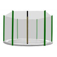 AGA ochranná sieť na trampolínu s celkovým priemerom 180 cm na 6 tyčí - čierna - tmavozelená