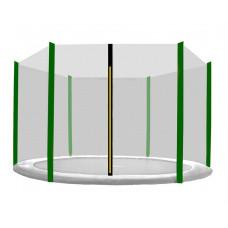 AGA ochranná sieť na trampolínu s celkovým priemerom 180 cm na 6 tyčí - čierna - tmavozelená Preview