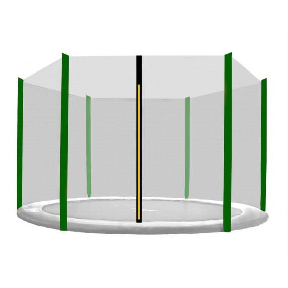 Ochranná sieť na trampolínu s celkovým priemerom 180 cm na 6 tyčí AGA - čierna - tmavozelená