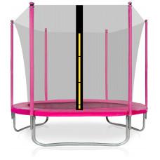 Trampolína AGA SPORT FIT 250 cm s vnútornou ochrannou sieťou ružové