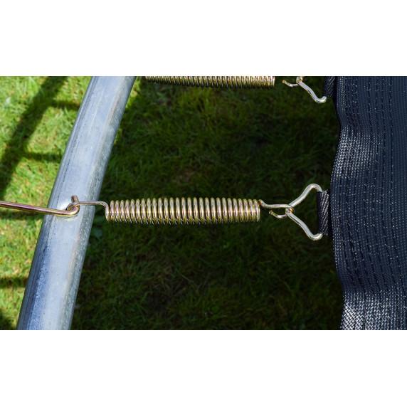 Trampolína AGA SPORT FIT 305 cm s vnútornou ochrannou sieťou tmavozelená