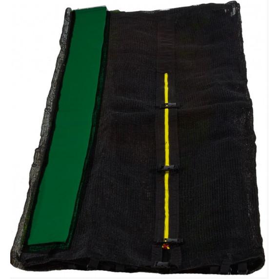 AGA ochranná sieť na trampolínu s celkovým priemerom 150 cm na 6 tyčí - čierna - tmavozelená