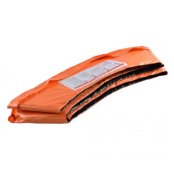 Trampolína AGA SPORT FIT 180 cm s vnútornou ochrannou sieťou - oranžová