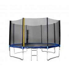 Trampolína XXL 430 cm Linder Exclusiv + ochranná sieť + rebrík + krycia plachta - modrá Preview