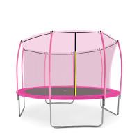 Trampolína AGA SPORT FIT 366 cm s vnútornou ochrannou sieťou - Ružová