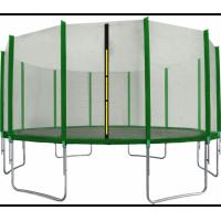Trampolína 518 cm s vonkajšou ochrannou sieťou tmavozelená AGA SPORT TOP