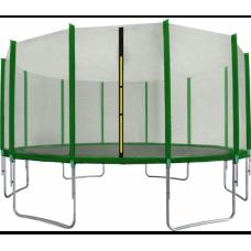 Trampolína 518 cm s vonkajšou ochrannou sieťou tmavozelená AGA SPORT TOP Preview