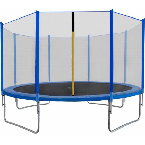AGA SPORT TOP trampolína 430 cm s vonkajšou ochrannou sieťou modrá