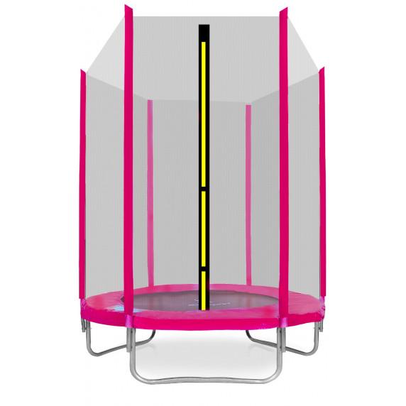 AGA SPORT TOP trampolína 150 cm s vonkajšou ochrannou sieťou ružová