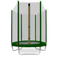 AGA SPORT TOP trampolína 150 cm s vonkajšou ochrannou sieťou tmavozelená