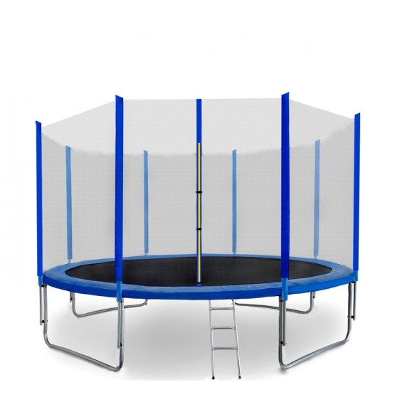 Trampolína 487 cm SPARTAN + ochranná sieť + rebrík - modrá