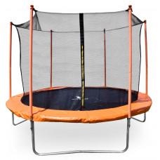 Trampolína AGA SPORT FIT 180 cm s vnútornou ochrannou sieťou - oranžová Preview