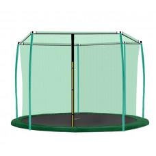 AGA vnútorná ochranná sieť na trampolínu s celkovým priemerom 366 cm na 8 tyčí - Tmavozelená Preview