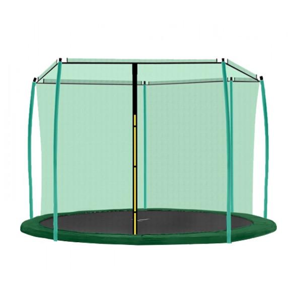 AGA vnútorná ochranná sieť na trampolínu s celkovým priemerom 366 cm na 8 tyčí - Tmavozelená