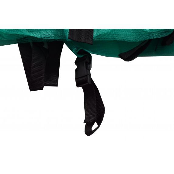 Vnútorná ochranná sieť na trampolínu s celkovým priemerom 180 cm na 6 tyčí AGA  - oceánovo zelená