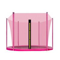 AGA vnútorná ochranná sieť na trampolínu s celkovým priemerom 250 cm na 6 tyčí - Ružová