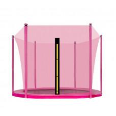 AGA vnútorná ochranná sieť na trampolínu s celkovým priemerom 250 cm na 6 tyčí - Ružová Preview