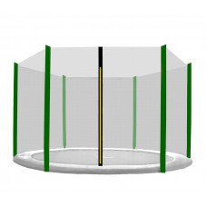 AGA ochranná sieť na trampolínu s celkovým priemerom 305 cm na 6 tyčí - čierna - tmavozelená Preview