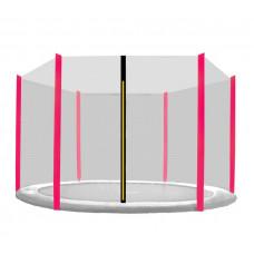 Ochranná sieť na trampolínu s celkovým priemerom 305 cm na 6 tyčí AGA - čierna sieť/ružová Preview