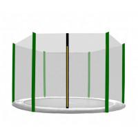 Ochranná sieť na trampolínu s celkovým priemerom 430 cm na 6 tyčí AGA - tmavozelená