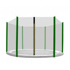Ochranná sieť na trampolínu s celkovým priemerom 430 cm na 6 tyčí AGA - tmavozelená Preview