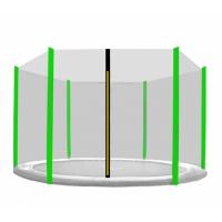 AGA ochranná sieť na trampolínu s celkovým priemerom 400 cm na 6 tyčí - čierna / svetlozelená