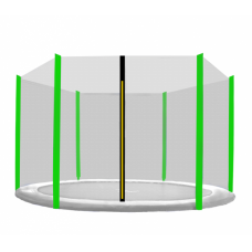 AGA ochranná sieť na trampolínu s celkovým priemerom 430 cm na 6 tyčí Preview