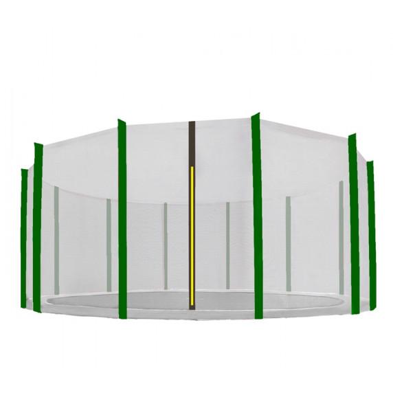 AGA ochranná sieť na trampolínu s celkovým priemerom 500 cm na 12 tyčí