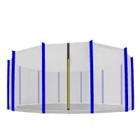 Ochranná sieť na trampolínu s celkovým priemerom 500 cm na 12 tyčí AGA - čierna/modrá