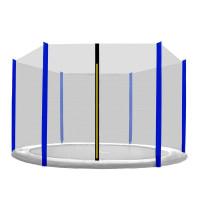 AGA ochranná sieť na trampolínu s celkovým priemerom 305 cm na 6 tyčí - Modrá