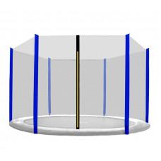 AGA ochranná sieť na trampolínu s celkovým priemerom 305 cm na 6 tyčí - Modrá Preview