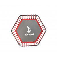 Odrazová plocha na fitness trampolínu s celkovým priemerom 130 cm Aga - červená