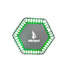 Odrazová plocha na fitness trampolínu s celkovým priemerom 130 cm Aga - zelená Preview