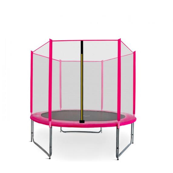 Aga SPORT PRO Trampolína 180 cm Pink s vonkajšou ochrannou sieťou