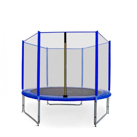 AGA SPORT PRO trampolína 250 cm s vonkajšou ochrannou sieťou modrá