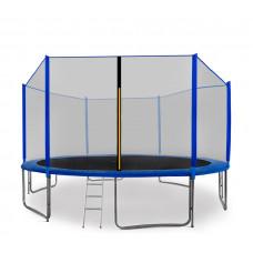 AGA SPORT PRO trampolína 430 cm s vonkajšou ochrannou sieťou modrá + rebrík + vrecko na obuv Preview
