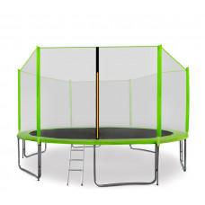 AGA SPORT PRO trampolína 430 cm s vonkajšou ochrannou sieťou svetlozelená + rebrík + vrecko na obuv Preview