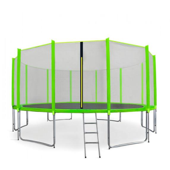 Aga SPORT PRO Trampolína 460 cm Light Green s vonkajšou ochrannou sieťou + rebrík + vrecko na obuv