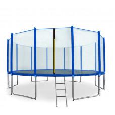 AGA SPORT PRO trampolína 500 cm s vonkajšou ochrannou sieťou modrá + rebrík + vrecko na obuv Preview
