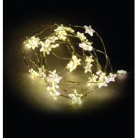 Linder Exclusiv Vianočná reťaz na batérie 40 LED LK111W-S Hviezdy - Teplá biela