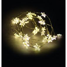 Linder Exclusiv Vianočná reťaz na batérie 40 LED LK111W-S Hviezdy - Teplá biela Preview