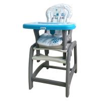 Baby Mix jedálenská stolička 2v1- modrá