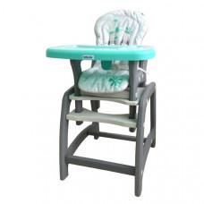Baby Mix jedálenská stolička 2v1 - zelená Preview