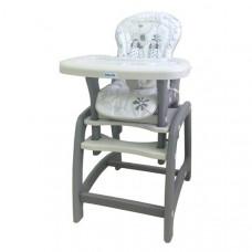 Baby Mix jedálenská stolička 2v1 - sivá Preview
