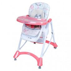 Baby Mix jedálenská stolička - ružová Preview