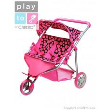Športový kočík pre 2 bábiky PlayTo Klaudie ružový Preview