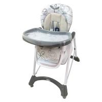 Baby Mix jedálenská stolička - sivá