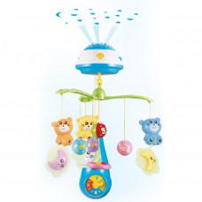 BABY MIX kolotoč nad postieľku so svetelným projektorom modrý Preview
