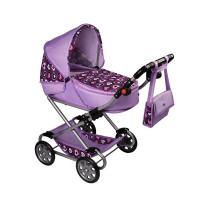 Detský kočík pre bábiky 2v1 New Baby Andrea - fiaľový